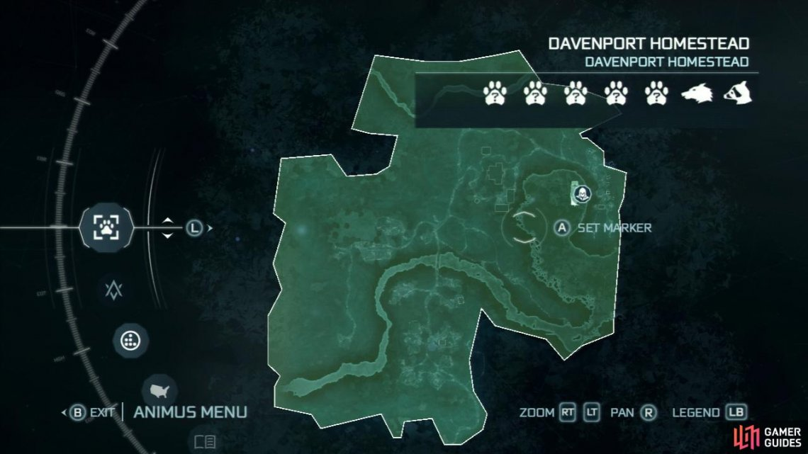 You can always check your Animus menu to see if you're yet to discover an animal in the area you currently occupy.