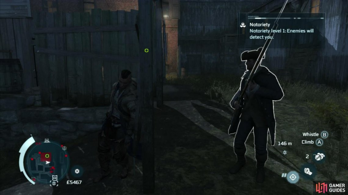 Ambient side-missions:   Chase and kill three thugs harassing merchants. When you find one of these thugs, they will run away. Run after the fleeing target, avoiding the guards that try to block your way and kill him.  Free a civilian held captive by guards. Kill the guards guarding the prisoner and then interact with the stockade to free the prisoner.