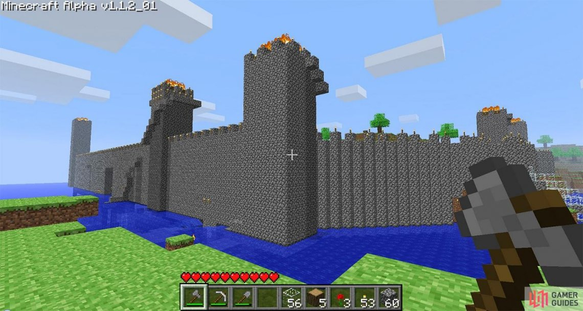 A castle must have a moat, that is priority one.