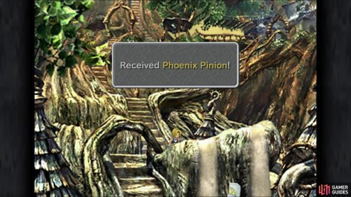 There are a number of hidden items in Cleyra, like this Phoenix Pinion