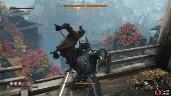 be sure to perform the Deathblow facing the edge of the bridge to push him off.