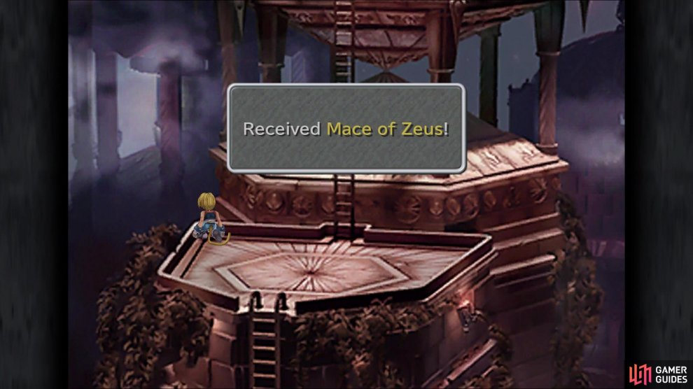 Vivi's Mace of Zeus is found right before the second ladder